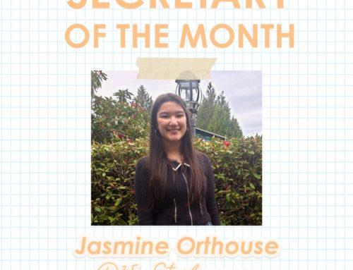 Secretary of the Month