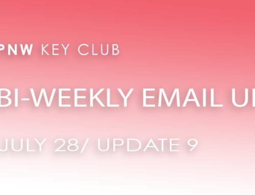 Bi-Weekly Email Update: July 28/Update 9