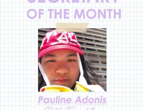 Secretary of the Month: Pauline Adonis