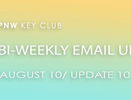 Bi-Weekly Email Update: August 10/Update 10