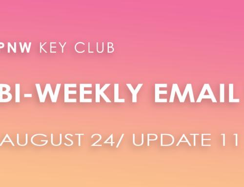 Bi-Weekly Email Update: August 24/Update 11