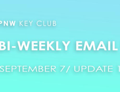 Bi-Weekly Email Update: September 7/Update 12
