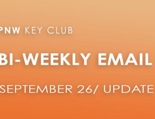 Bi-Weekly Email Update: September 27/Update 13